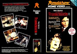 Frankenstein (Andy Warhol's) DVD cover