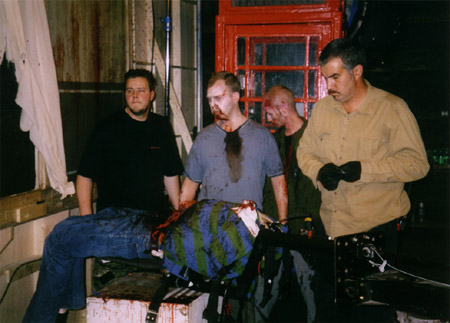 on set photos from Shaun of the Dead - dylan moran's demise 4