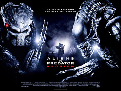 Alien Vs Predator Requiem UK Quad poster