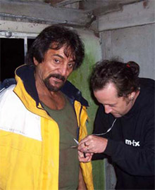 Tom Savini appearing in the UK's <b>Forest of the Damned</b>
