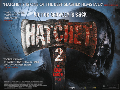 Hatchet 2 UK theatrical quad poster