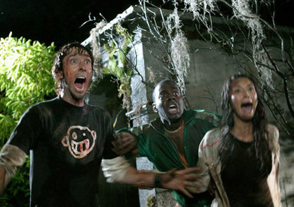 Hatchet - Ben (Joel David Moore), Marcus (Deon Richmond) and Marybeth (Tamara Feldman)