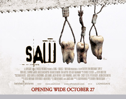UK details, trailer and poster for <b>Saw 3</b>