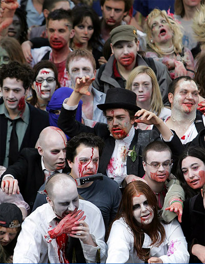 Film4 FrightFest Zombie Walk for <b>The Zombie Diaries</b>